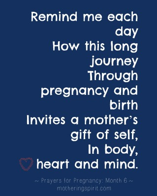 9 weeks for 9 months: prayers for pregnancy (month 6